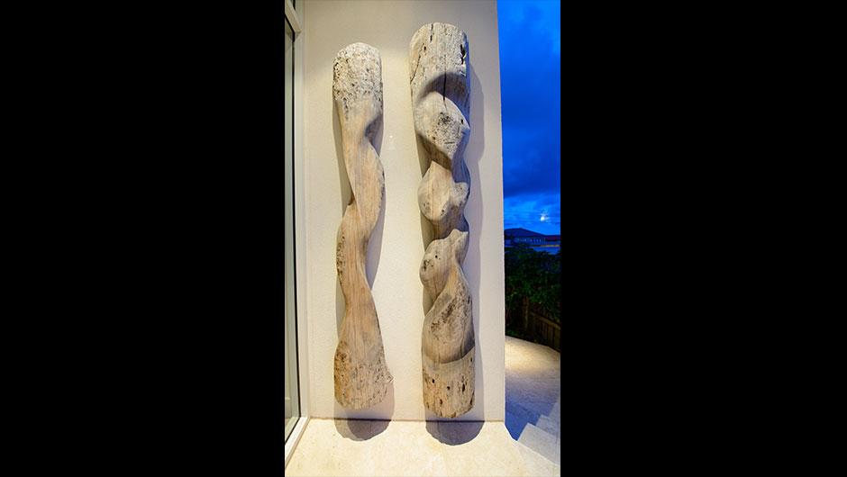 timber totems - man woman