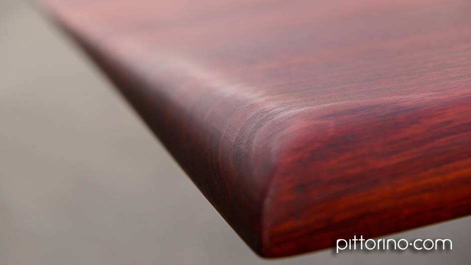 'colossus' hand shaped timber dining / boardroom table, edge profile