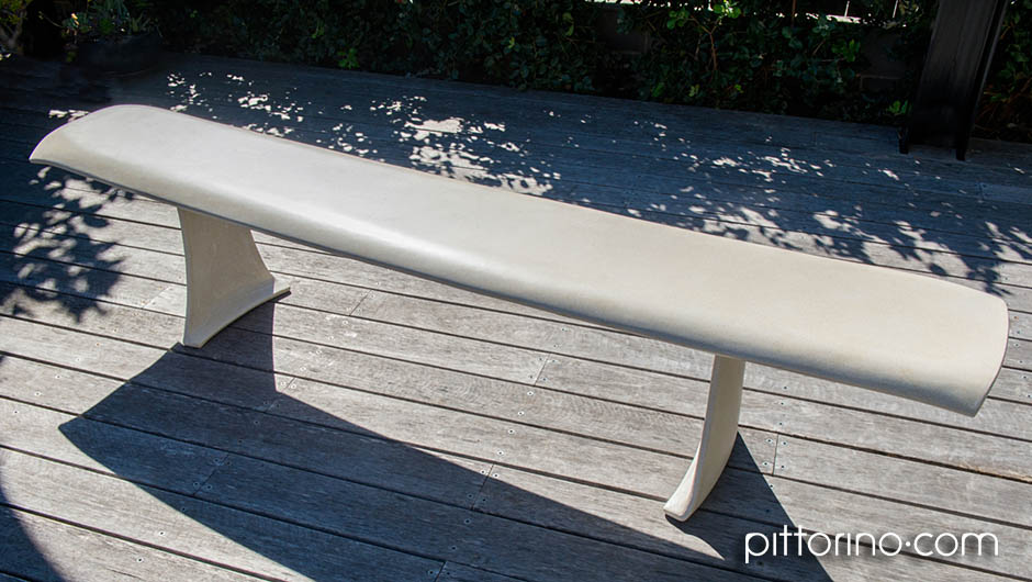 glass fibre reinforced concrete sculpted outdoor bench seats, Sydney Eastern Suburbs, Australia